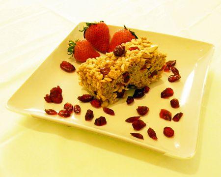 Cranberry Strawberry Breakfast Bars Recipe (Photo courtesy of Angelica Korth)