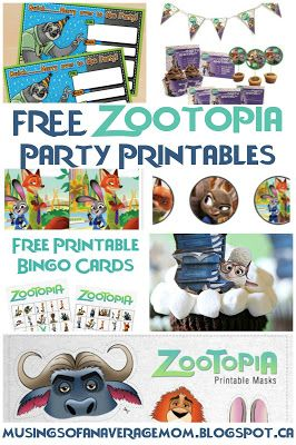 Free Zootopia party printables - invitations, decorations, games and more... The Ultimate Pinterest Party, Week 95
