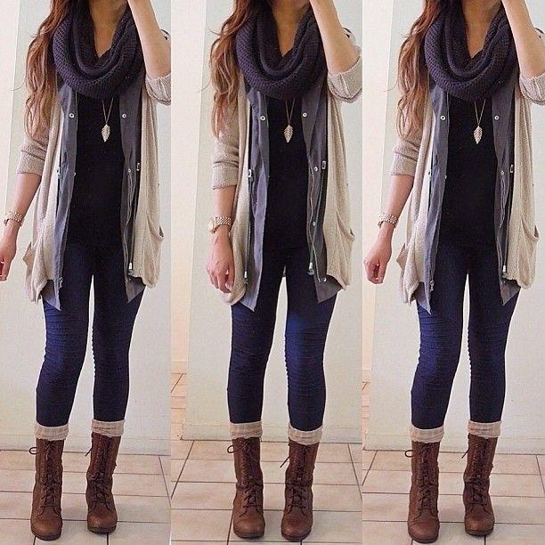 #ShareIG It's froooozen...!! ❄❄ deets - jacket & cardi: Temt | scarf: @Tobi McDaniel | boots: @FOREVER.com 21 | socks: @DAILYLOOK | jeggings: supre