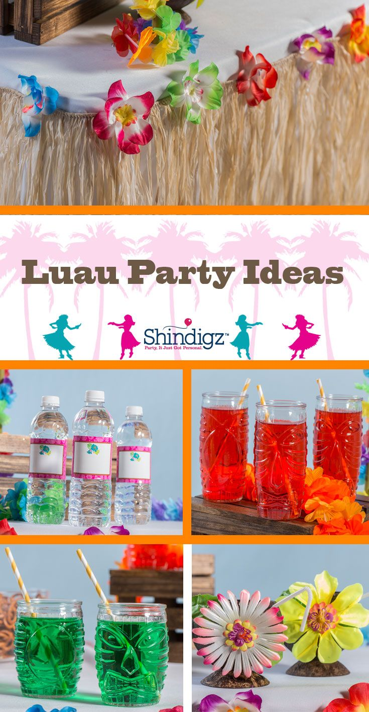 Create the ultimate luau party with supplies from Shindigz!