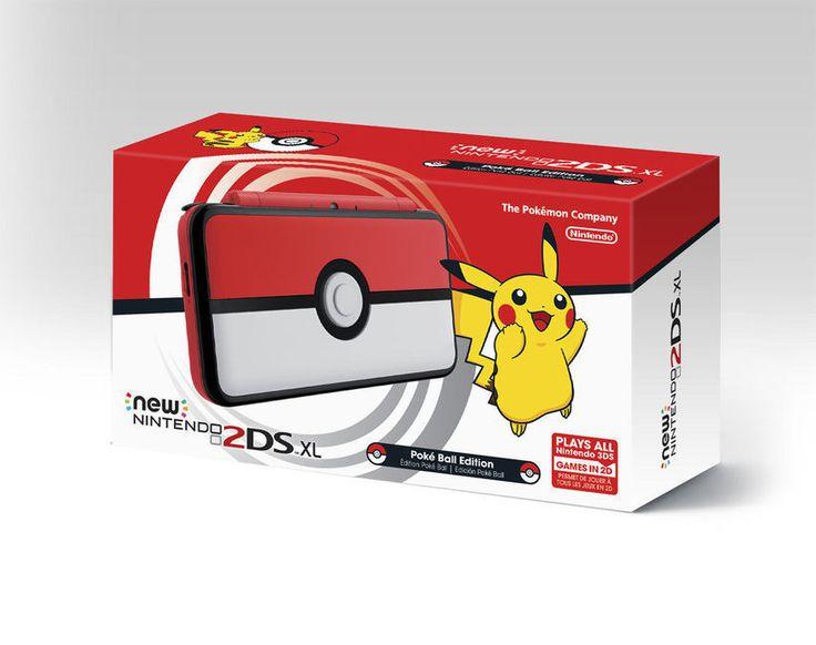 Nintendo 2ds Pokemon Poke' Ball Edition Hand Held Video Game Console 4 Christmas #Nintendo
