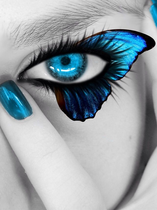 Isn't an animal, but have a butterfly here. A white girl with a blue butterfly. Fairies.