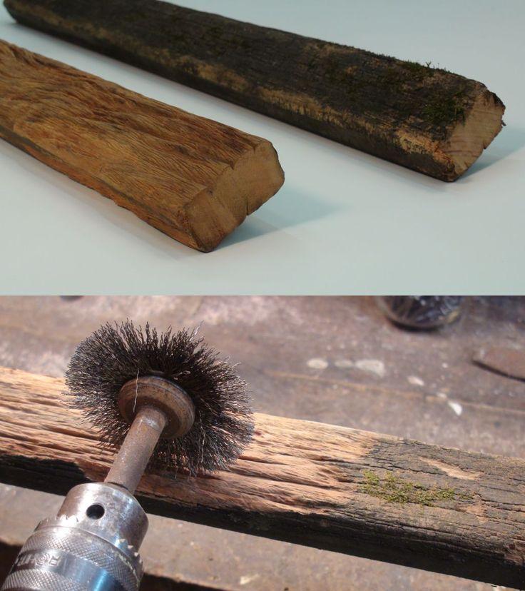 Furar, tirar prego e madeira velha