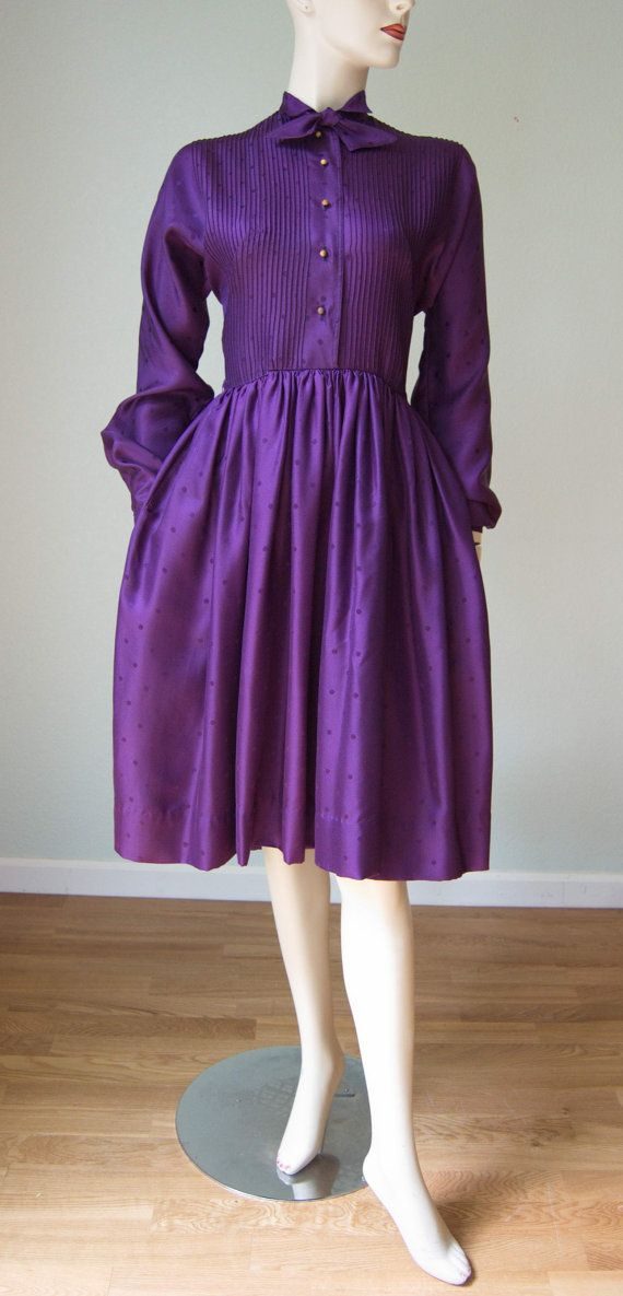 1950s Claire McCardell by Townley Silk Dress by KittyGirlVintage