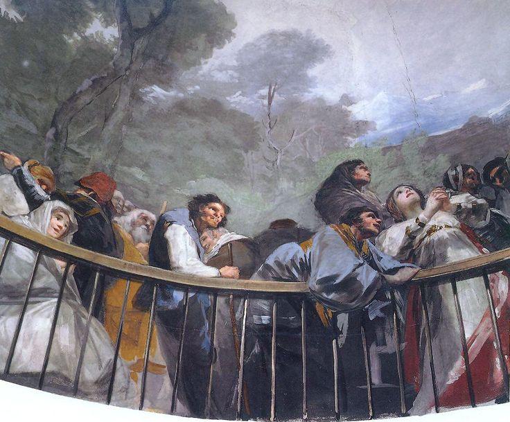 """Painting by Francisco Goya: """"El Milagro de San Antonio"""" (detail).  Ermita de…"""