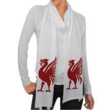 Liver Bird Scarves #LFC #YNWA #Liverpool #Reds - JT7 Art & Design on Aug 17,2014   BuzzyFootball
