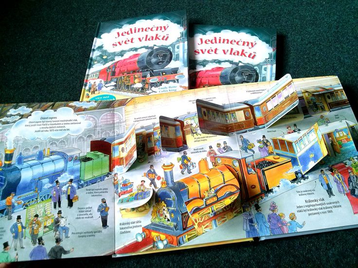 Jedinečný svět vlaků Jedinečný svět vlaků Jedinečný svět vlaků Otevři přes 60 okének na stránkách této knihy a objevíš zajímavosti o parních, dieselových, elektrických a dalších vlacích z minulosti i současnosti.#kniha #encyklopedie #okenka #odklapeci #deti #naucne