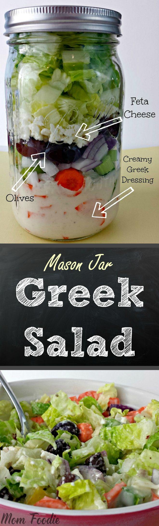 Mason Jar Greek Salad