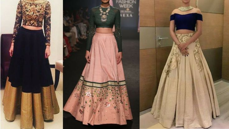 Modern Lehenga Designs for wedding guest || Fusion Simple lehenga Crop T...