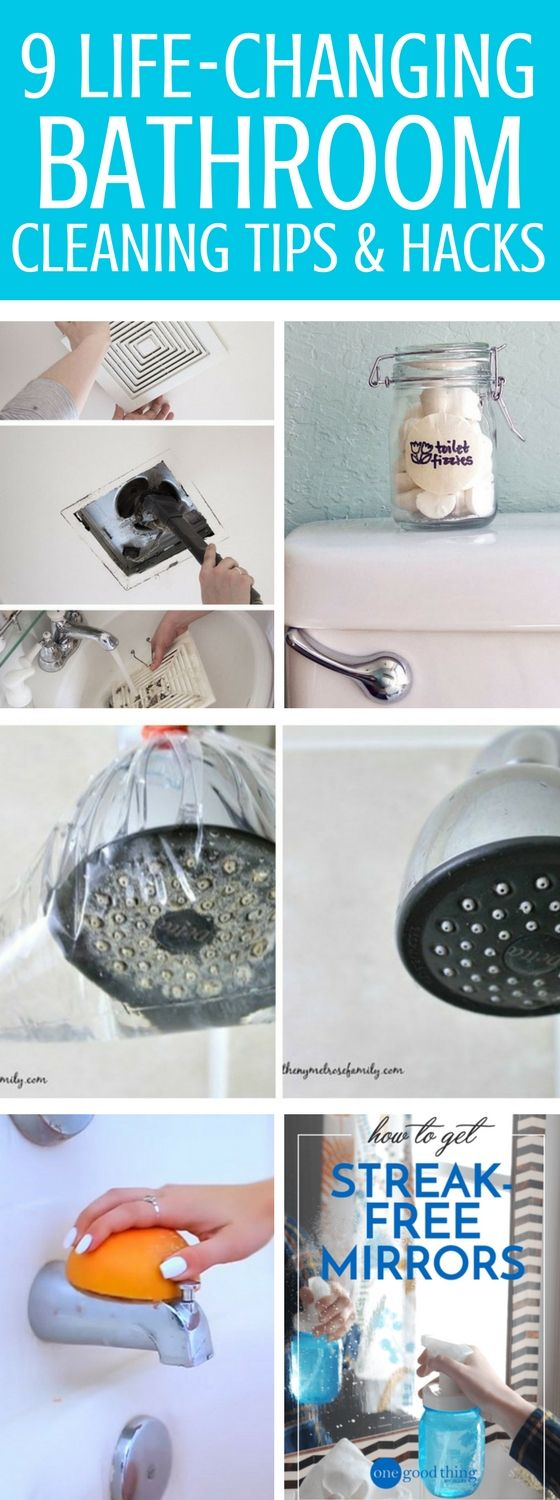 Bathroom Cleaning Tips And Hacks That Haven Proven To Work - Great ways to learn how to spotlessly clean your toilets, tubs, faucets and other unexpected places. These diy bathroom cleaning tips will surely help you out and includes a checklist too!