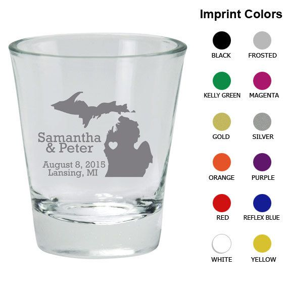 Wedding Shot Glasses Clipart 1004 State of by MyWeddingStore, $85.00