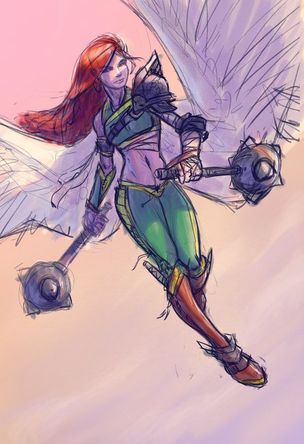 Hawkgirl WIP by JBellio on DeviantArt  Looks like a good warrior design