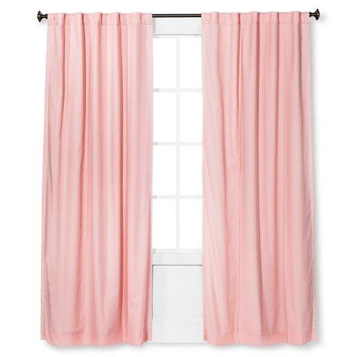 "Twill Light Blocking Curtain Panel Light Pink (54x84"") - Pillowfort™ : Target"