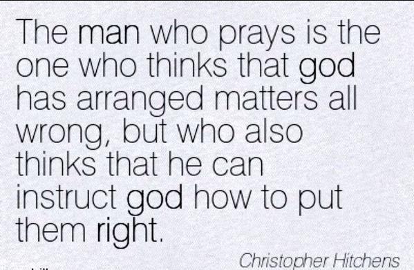 prayers...bah