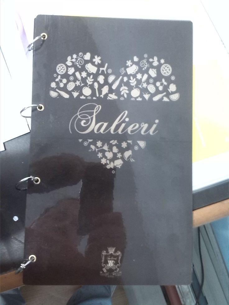 """Меню для кафе """"Salieri"""" (печать на пластике)"""