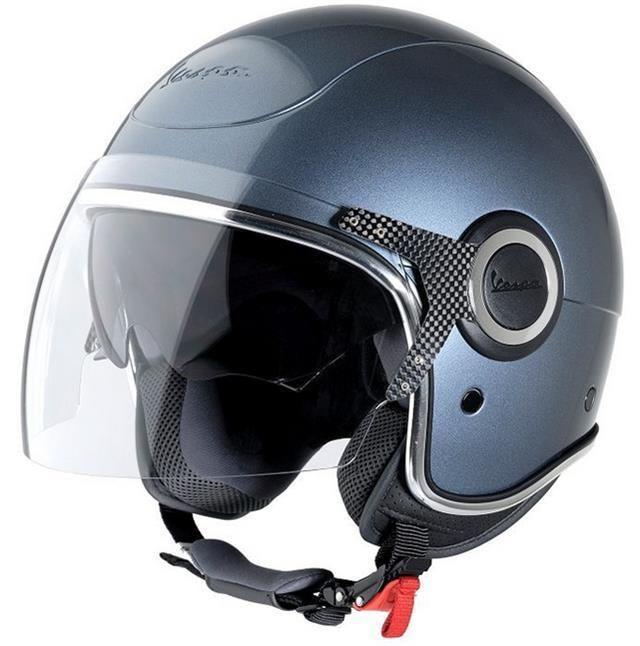 Vespa VJ Helmet - Grigio Dolomiti Vespa Helmet With Tinted Visor #Vespa
