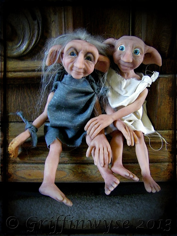 Two house elves by Kimberly at Griffinwyse