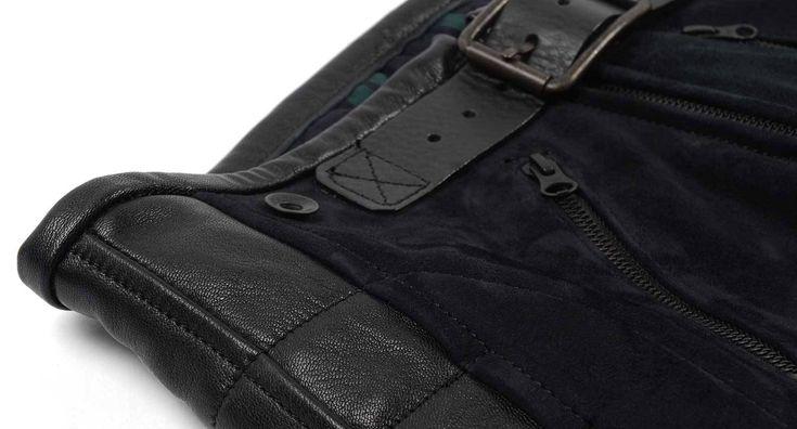 Rascal Leather Motorcycle Pants Black