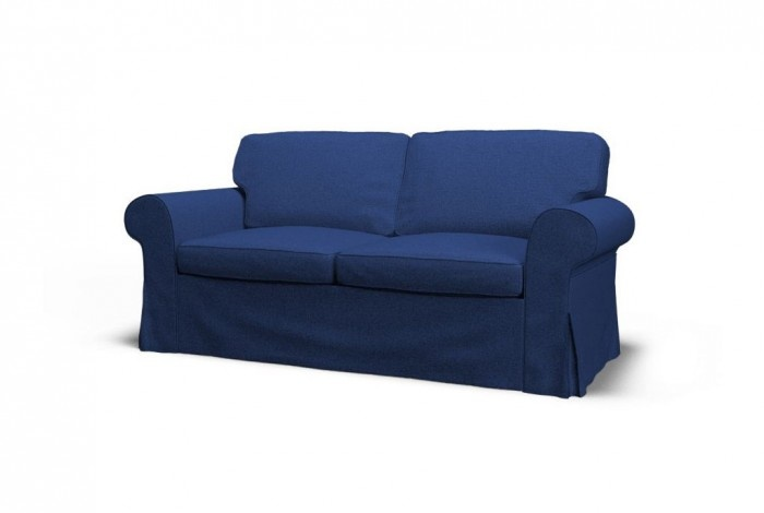 ikea ektorp two seat sofa slipcover gaja cornflower blue 100 pure new wool from new zealand. Black Bedroom Furniture Sets. Home Design Ideas
