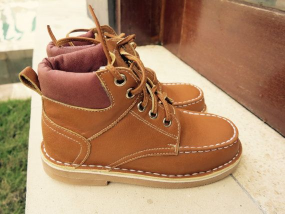 KIDS SHOES  William Timberland Boot/kids leather shoes/1st