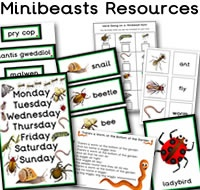 Minibeasts teaching resources - LOADS of resources on minibeasts. There are flashcards, display words, posters, matching Cards, Vertebrate and invertebrate matching cards, pupil drawer labels, Coat Hook Labels, We're going on a minibeast hunt, worm themed resources, Literacy Playdough Mats, 'There's A Worm At The Bottom Of The Garden' song and CVC worm themed words, plus much more, great for any primary, elementary / kindergarten class or nursery.