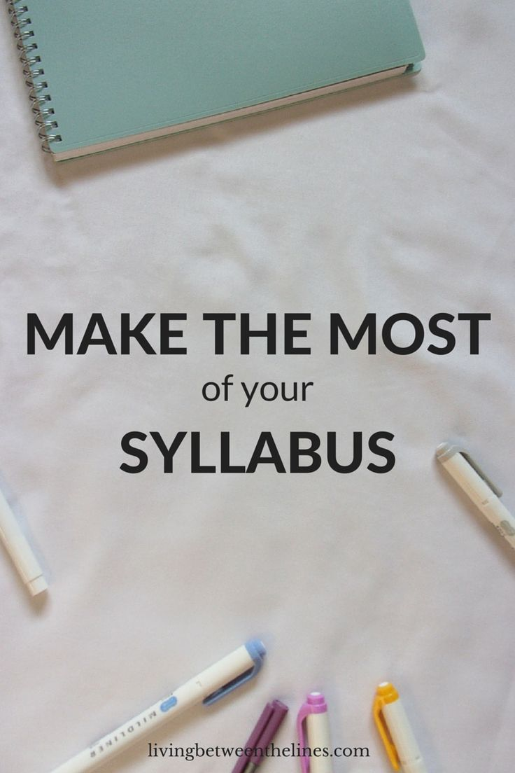 Syllabus week is so boring, but using your syllabus right is the key to a successful semester!