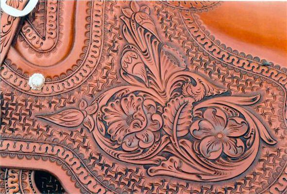 Beautiful leather pattern.