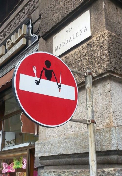 Best Street Art Images On Pinterest Street Signs Urban Art - Brilliant street artist modifies road signs giving them a whole new meaning