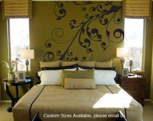 #wall #decor Vinyl Wall Art Decal Sticker Swirl Floral Curves « Cheap Apartment Decorating