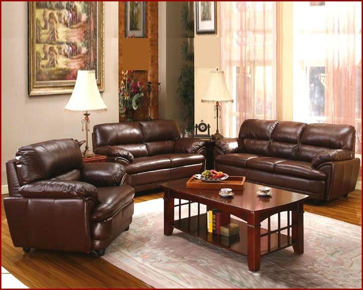 Comfortable Spacious Pc Leather Living Room Set Mo