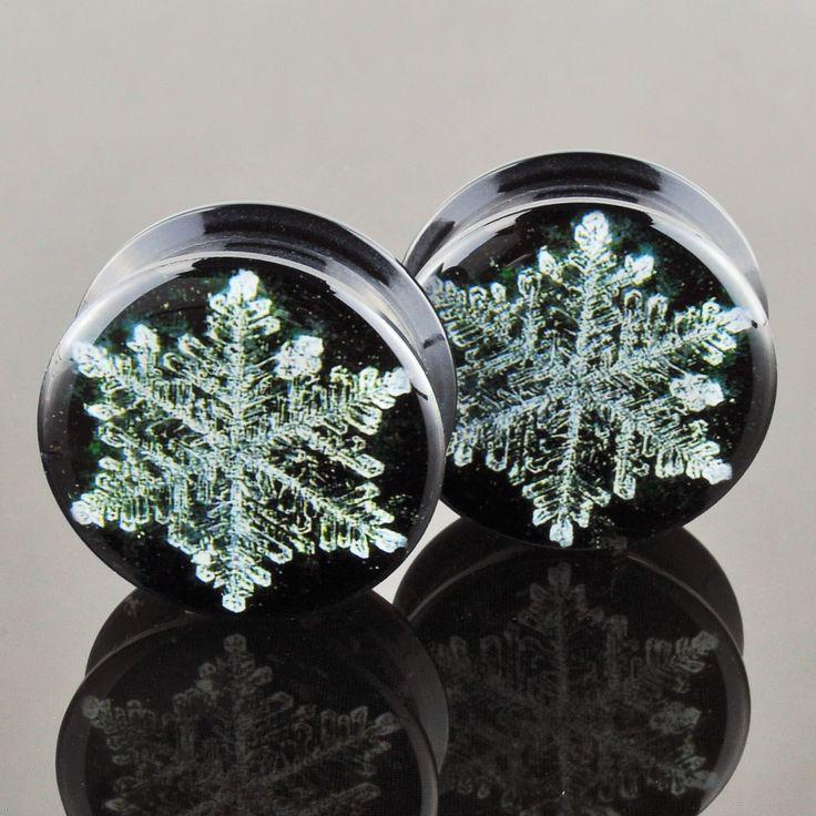 Snowflake Acrylic Plugs