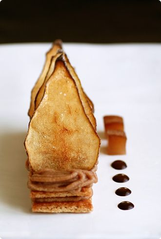 Mont Blanc with Poached Pear
