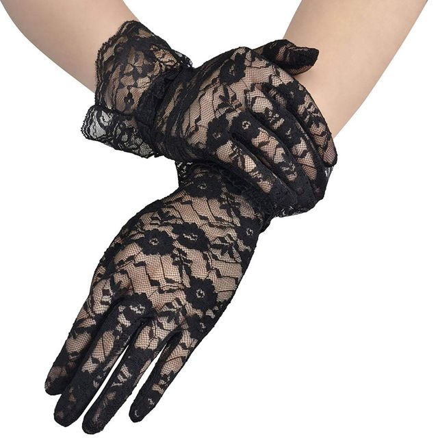 VARIOUS COLORS OPERA LENGTH FLOWER PATTERN WOMEN/'S LACE GLOVES