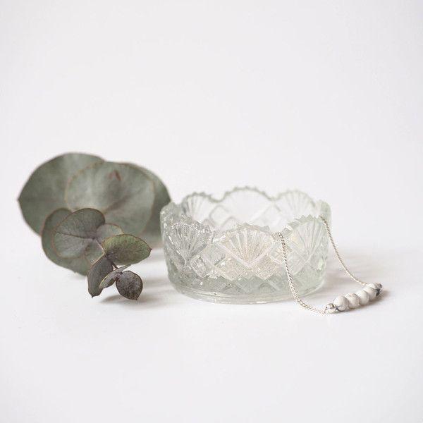 Silberketten - kette | silber | howlith | kugeln  - ein Designerstück von miniundmal bei DaWanda