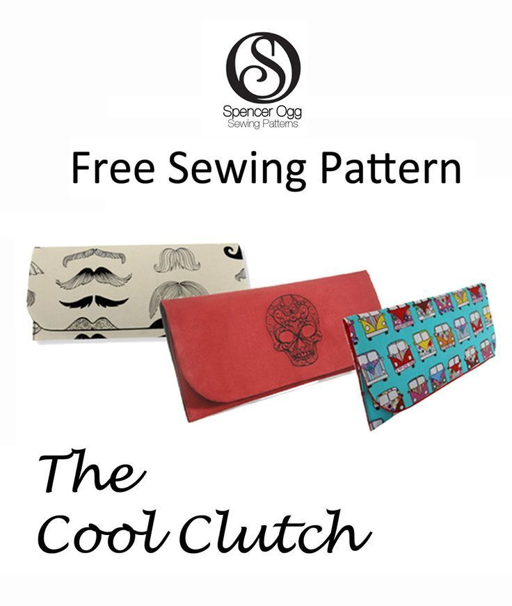 FREE SEWING PATTERN. The Cool Clutch | pouches | Costura, Llaveritos ...