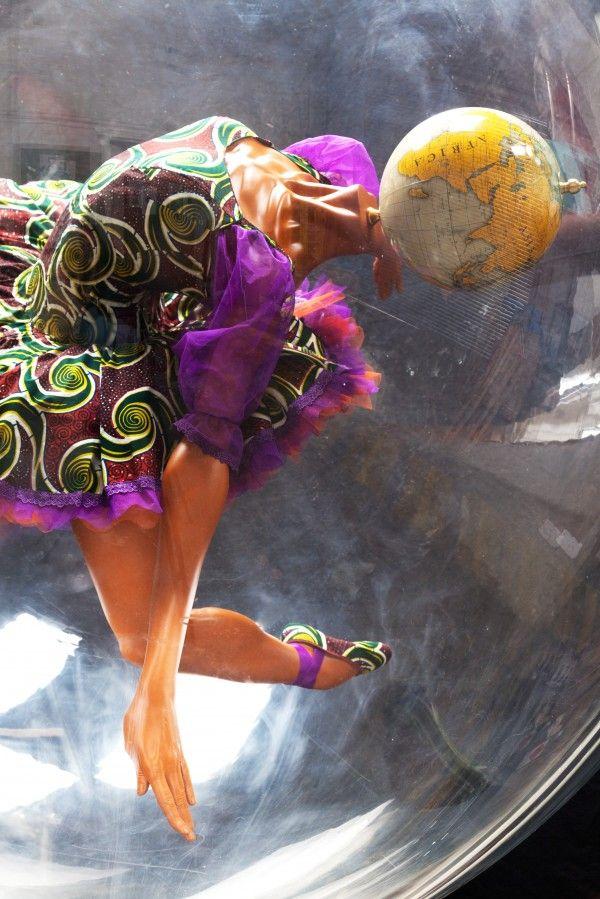 Yinka Shonibare - Globe Head Ballerina - Royal Opera House - Bellerby & Co Globemakers globe commission.