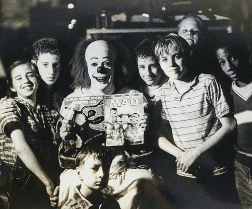 Stephen Kings' IT (1990) - Emily Perkins (Beverly Marsh), Seth Green (Richie Tozier), Tim Curry (Pennywise), Ben Heller (Stanley Uris), Jonathan Brandis (Bill Denbrough), Brandon Crane (Ben Hanscom), Marlon Tayler (Mike Hanlon) and Adam Faraizl (Eddie Kaspbrak)