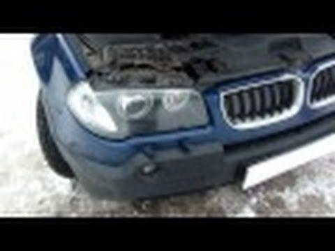 Установка защитной сетки радиатора на BMW X3 E83 2004 года