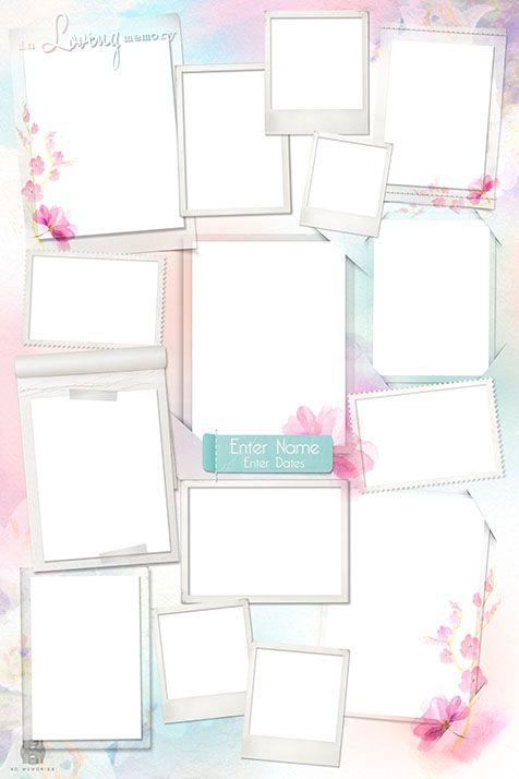 Shop Collage Design Templates Condolence book Photo collage