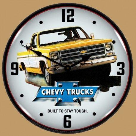 Horloge Lumineuse Rétro-Éclairé Chevrolet Camions / Pickups 1979