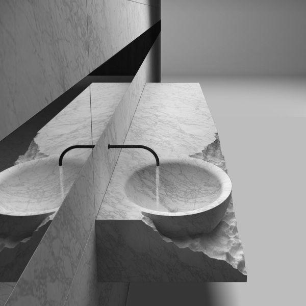 HENRYTIMI | bagni | lavabo | bagno esclusivo, lavabi di design minimale, bagni in pietra marmo porfido granito, lavabo su misura, bagno made in italy, lavabi di qualità, bagni in legno massello metallo ferro alluminio ottone