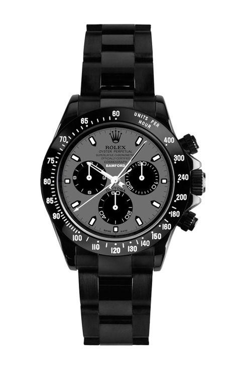 Black Daytona With Hurricane Grey Dial by Bamford for Preorder on Moda Operandi