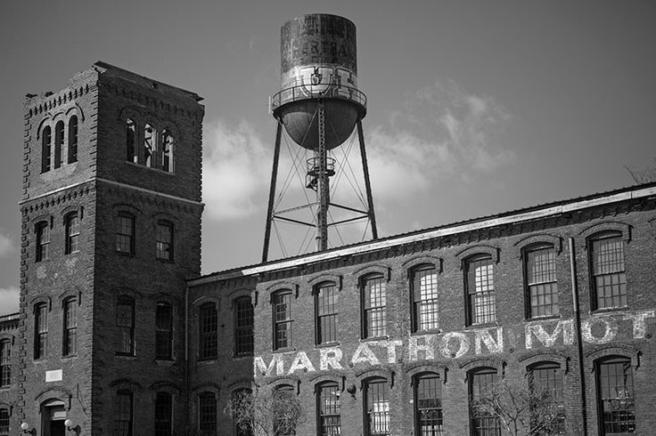 The Marathon Motor Works Building, Nashville Black and White Photograph (A0013267)