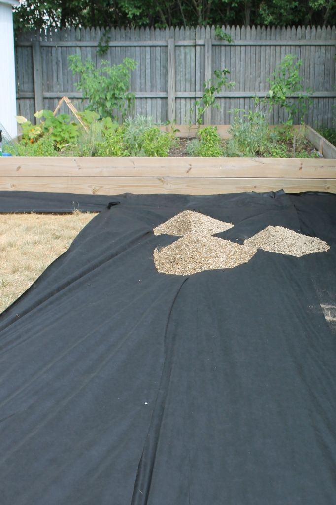 Laying the Pea Gravel
