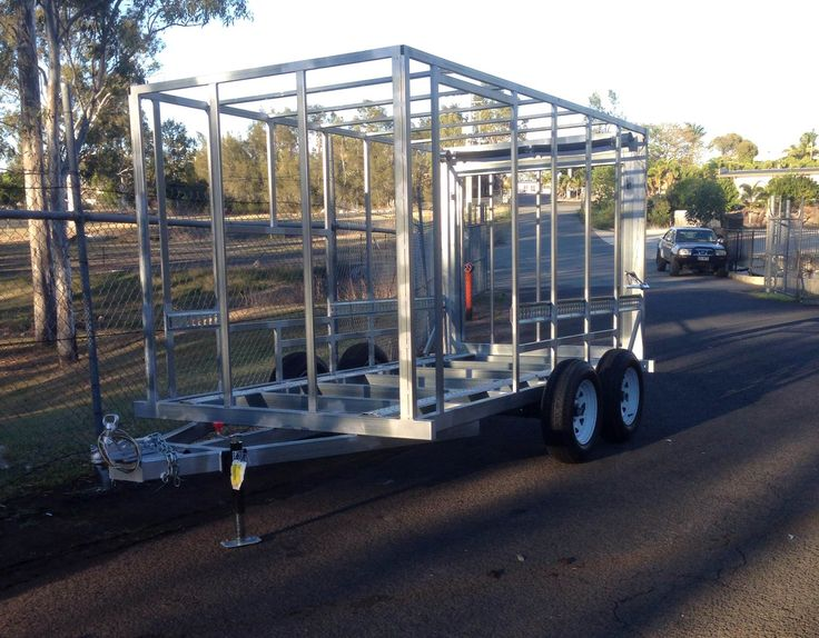 Made from australian steel fully galvanized steel frame for Enclosed bed frame