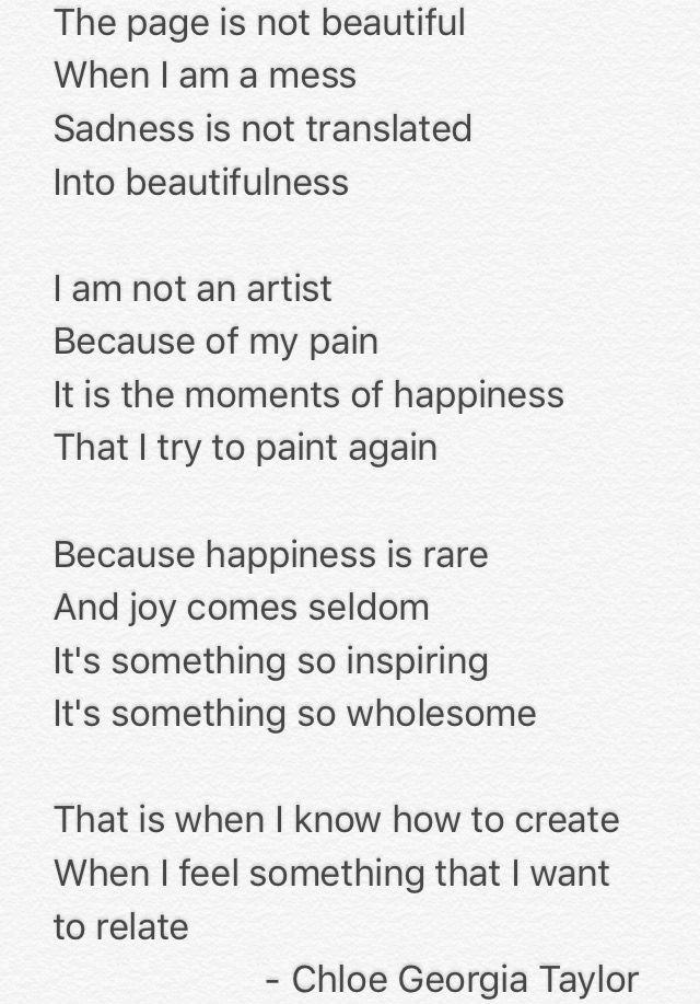 Sadness is not translated into beautifulness