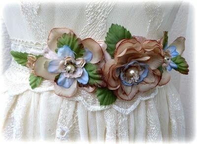 Wedding flowerbelt/hairband tutorial