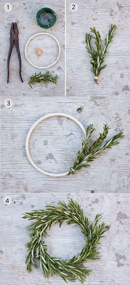 MuyVariado.com: DIY, Corona de Navidad con Follaje