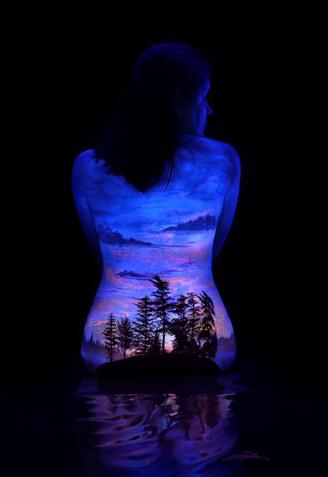 Best Uv Tattoos Images On Pinterest Black Lights Beautiful - Amazing black light body art photography john poppleton