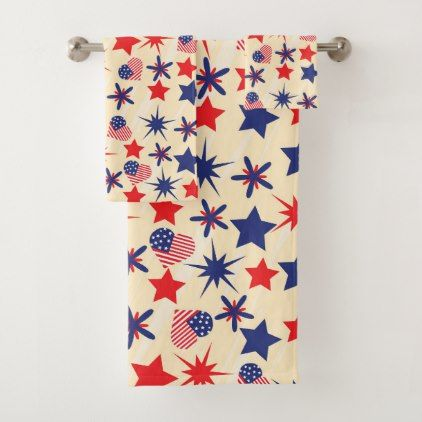 Adorable Americana Bathroom Towel Set  $55.83  by cozycountrycottage  - cyo diy customize personalize unique